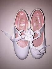 NEW Capezio Junior DANCE Tap Shoe for Girls Style 7106 White  Size 12.1/2 W