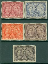 CANADA : 1897. Unitrade #56-57, 59-61 Fresh grouping, well centered. Cat $2460