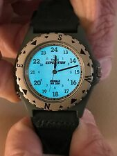 TIMEX EXPEDITION WATCH with LEATHER BAND with INDIGLO NWOT