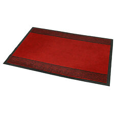 60x90cm RED MACHINE WASHABLE BARRIER HOME INDOOR FLOOR DOOR MAT MUD DIRT GRABBER