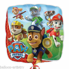 "18"" Paw Patrol Puppy Pets Children's Birthday Party Square Foil Balloon"