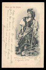 original postkarte GRUSS aus den BERGEN.-Kostüm
