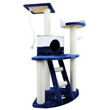 Cat Scratching Poles Post Furniture Tree House Condo Blue White Shopiverse Deal