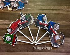 12- THOMAS THE TRAIN Cupcake Toppers / Cake Toppers / Party Decorations
