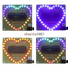 DIY Kit Heart Shaped LED Colorful Light Water Electronic Suite Set Gift