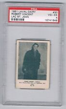 1951 Laval Dairy Lac St. Jean Hockey Card #30 Robert Vincent Graded PSA 4
