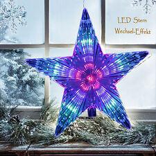 LED Stern Christbaumspitze Weihnachtsstern 230V Lauflicht Fensterdeko Dekostern