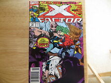 1991 VINTAGE MARVEL COMICS X-FACTOR # 72, NEW TEAM SIGNED BY PETER DAVID