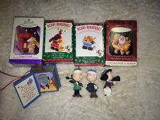 Lot Of 10 HALLMARK Peanuts, Disney, Pooh and Other Ornaments