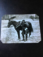 Civil War Military Soldier with horse  tintype C520RP