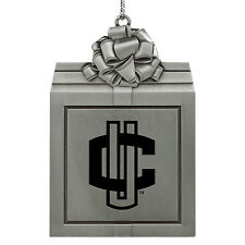 University of Connecticut-Pewter Christmas Holiday Ornament-Silver