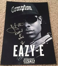 JASON MITCHELL SIGNED STRAIGHT OUTTA COMPTON EAZY E 12x18 PHOTO POSTER w/PROOF