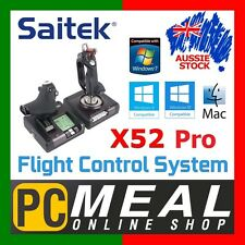 Saitek X52 Pro Flight Control System Stick Throttle PC Mac Gaming Joystick HOTAS