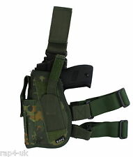 Paintball / Airsoft Leg Holster (Left Hand - Small) (German Flectarn) [AF4]