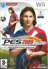 PRO EVOLUTION SOCCER PES 2009 for Nintendo Wii - PAL - manual in Dutch