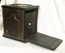 EXCEPTIONAL EARLY AMERICAN PRIMITIVE ALMS BOX ORIGINAL PAINT