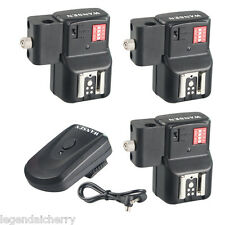 3 Recievers Wireless Remote Speedlite Flash Trigger With Umbrella Hole Universal