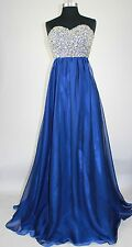 Women's Formal Strapless Rhinestones Sequins beaded Long Evening Gown prom dress