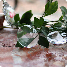 """100PCS 1"""" Round 3D Crystal Clear Epoxy Adhesive Circles Dome Sticker Bottle Cap"""