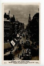 Cheapside & Bow Church RARE PHOTO London—Antique Real RPPC—Signs 1914
