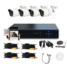 New CCTV 8CH AHD DVR 4 Outdoor 1300TVL 720P Camera Home Security System Kit