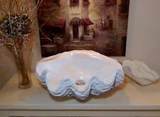 Sculptured Giant Clam Shell Bathroom Sink Wash Basin Counter Top