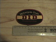 DID CLOTH OVAL BADGE PATCH MOTORCYCLE RACING NEW D.I.D. CHAIN