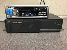 Alpine Coche Radio Estéreo reproductor de cassette con 6 disco CD CHANGER Complete Set Up