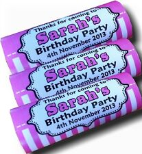 Personalised Wrappers Chocolate Bars Birthday Favours x 12