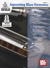 Improvising Blues Harmonica Sheet Music Book/DLC Learn How To Play Method