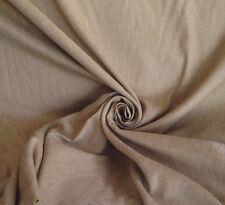 18m Laura Ashley Linen Quality Curtain Two Tone Fabric In Deep Linen & Caramel
