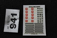 Games Workshop Warhammer 40k Space Orks Army Transfers Sheet Decals New Page x1