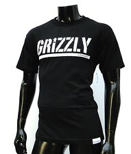 GRIZZLY GRIPTAPE X SUPPLY CO STAMP PRINT BLACK MENS T SHIRT MEDIUM