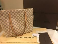 $1430, Authentic Louis Vuitton Totally Damier Azur MM, with receipt - Used 1x