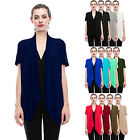 Womens Lightweight Short Sleeve Open Front Cardigan-Made in USA (S-5X) Plus size