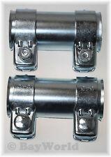 2 St. Auspuff Universal Rohrverbinder 50x 54,5x 125mm Doppelschelle Audi VW uvm.