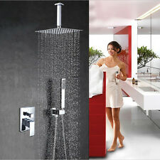 "Chrome Brass 8"" Rainfall Shower Faucet Ceiling Mounted Shower Mixer Tap"