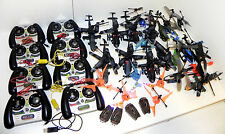 IGNITE, AIR HOGS, R/C HELICOPTER REMOTE CONTROL LOT OF 24 FOR PARTS ONLY.