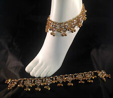 Golden Anklet/Payal,Stunning Fashion jewellery,Bollywood style,RJ23-603
