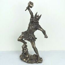 """Thor Norse God of Thunder Bronze Figurine Miniature Statue 12""""H New"""