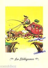 Ex libris LUCKY LUKE sépia album bd La DILIGENCE offset affiche cow boy chevaux