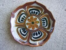 "1980s Ken Edwards Tonala Lotus Pattern 8.25"" Medium Plate #8 - Mexico"
