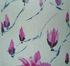 DESIGNERS GUILD Madame Butterfly Pink Indigo Floral New Remnant