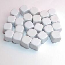 25pcs  Blank White Dice / Counting Cubes 16mm  D6 Square RPG Gaming Dice