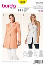 Burda Ladies Plus Size Sewing Pattern 6783 Smart Suit Jacket & Waistcoat ...