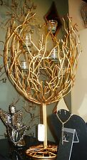 NEW YEAR ITALIAN GOLD TWIG IRON VOTIVE TREE CETNTERPIECE