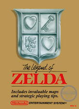 A4 Poster – The Legend of Zelda (Original Nintendo Gaming System Box Art NES)