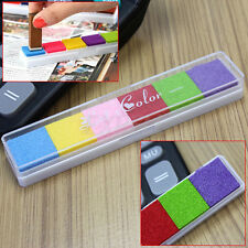 Multi 6 Color DIY Craft Ink Pad Inkpad Stamp Fabric Wood Paper Scrapbook Decor