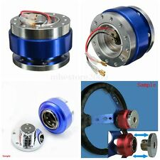 Universal Racing Steering Wheel 6-Hole Bolt Ball Bearing Quick Release Kit Blue