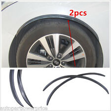 2pcs Wheel Arches Eyebrow Protector Universal Soft Rubber Black Lattice Pattern
